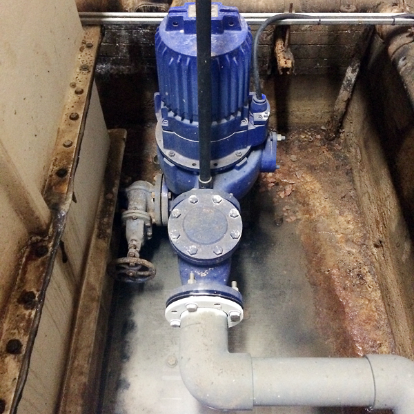 drywell pipe, piping, pipes, pump